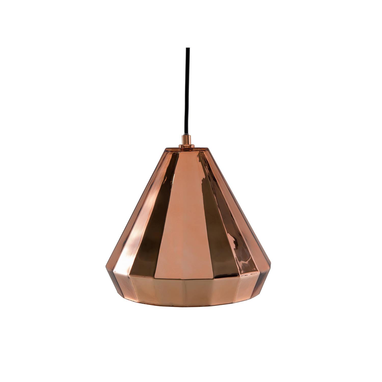 Beliani Japura Hanglamp Koper Glas