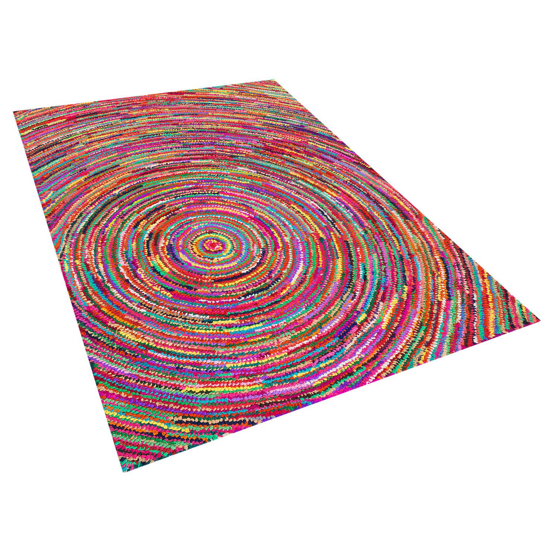 Beliani Malatya Tapijt Meerkleurig Stof 160 x 230 cm