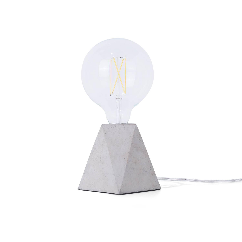 Beliani Saja Tafellamp Grijs Beton