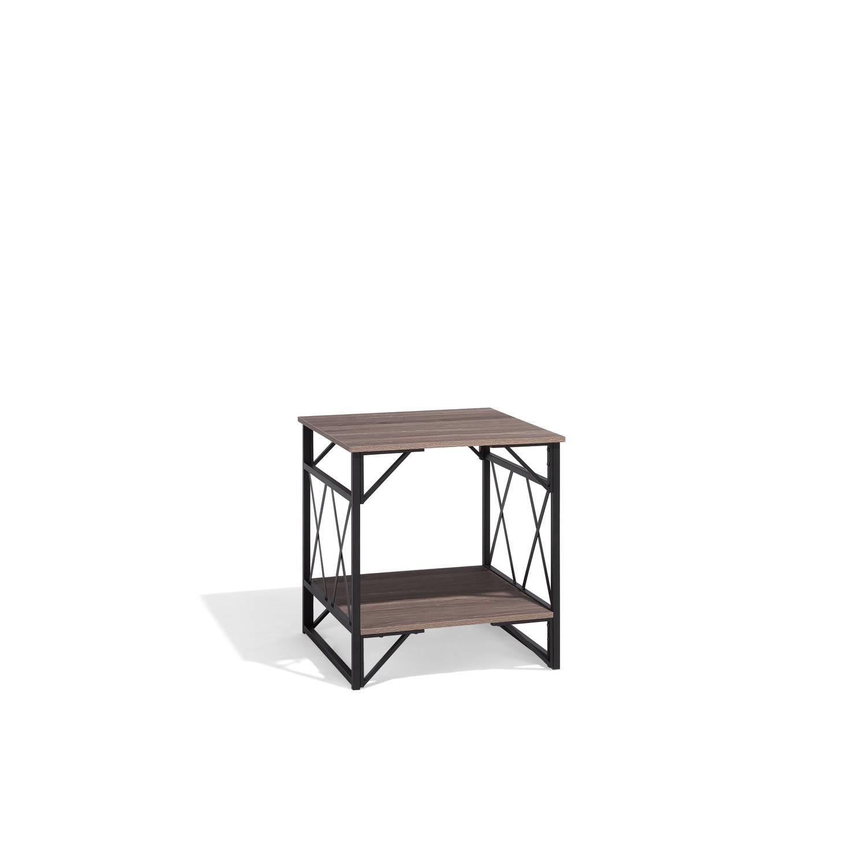 Beliani Logan Salontafel Donker houtkleur MDF