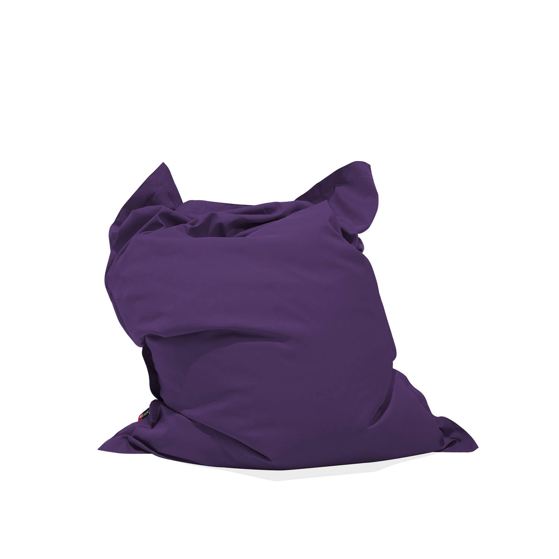 Beliani Bean Bag Big Zitzak Paars polyester 140 x 180 cm