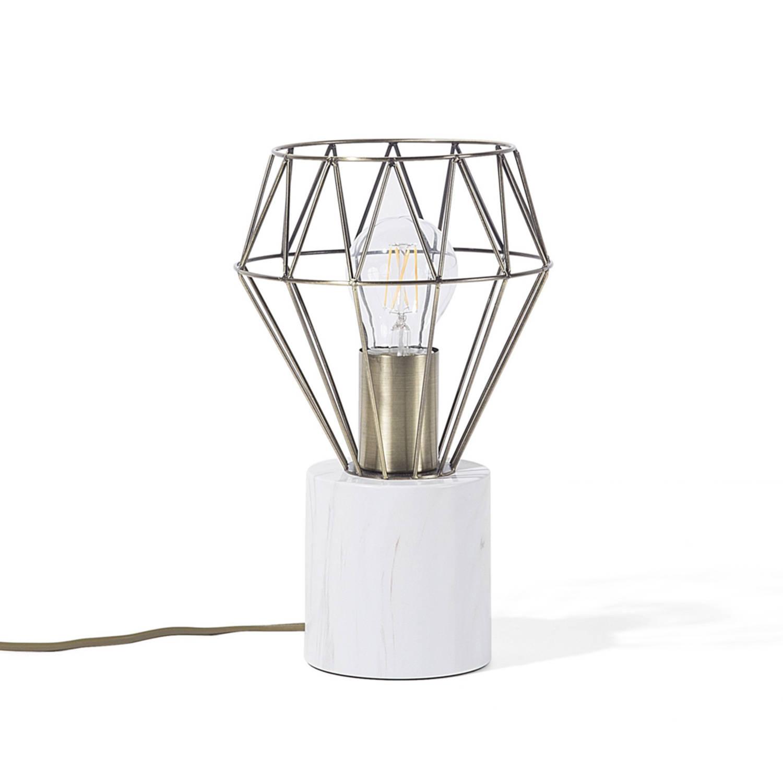 Korting Beliani Mooni Tafellamp Metaal 17 X 17 Cm