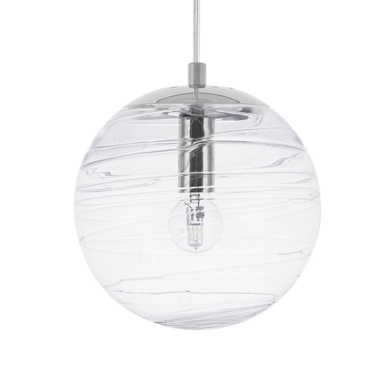 Korting Beliani Mirna Hanglamp Glas 16 X 16 Cm