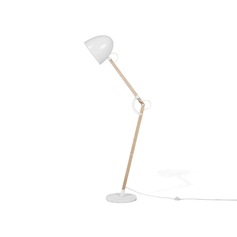 Beliani Hetton Staande lamp Wit