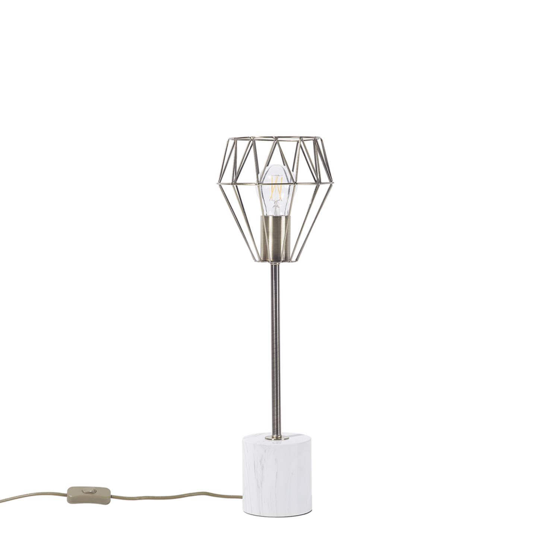 Korting Beliani Mooni Tafellamp Metaal 15 X 15 Cm
