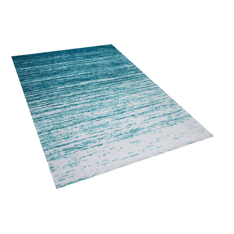 Image of Beliani KATERINI Tapijt Blauw Stof 140 x 200 cm