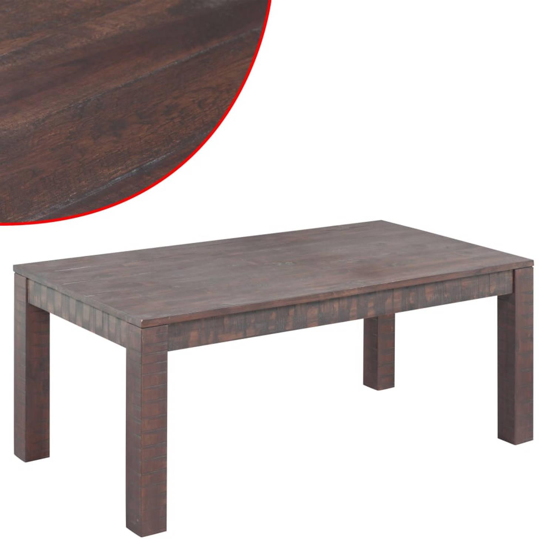vidaXL Salontafel 105x55x45 cm massief acaciahout met rook-look