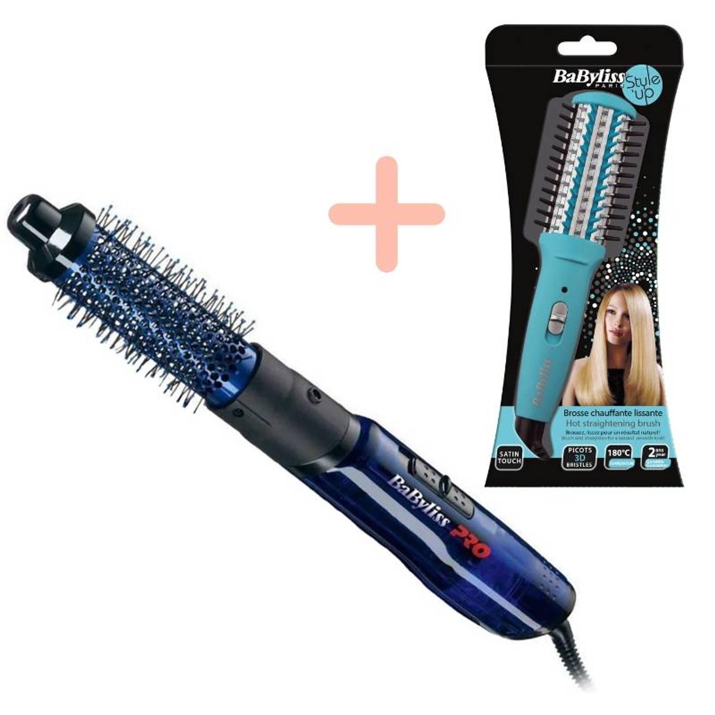 BaByliss PRO Blue Lightning met gratis Mini Hot Straightening Brush H130e