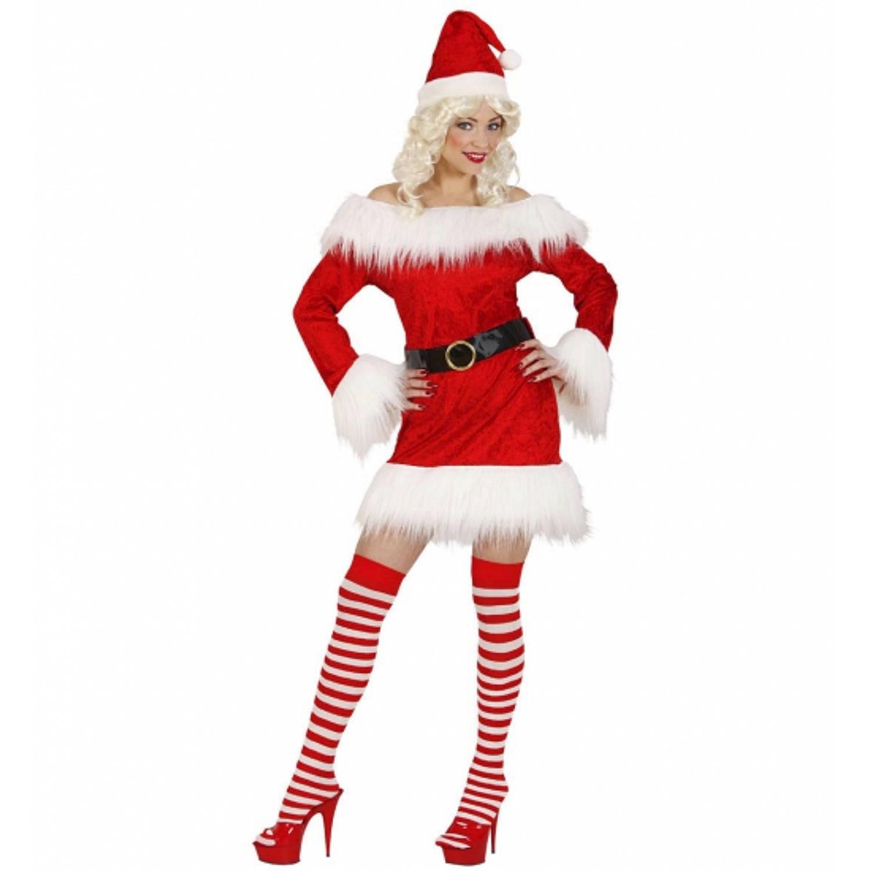 Fluwelen kerstpakje voor dames S