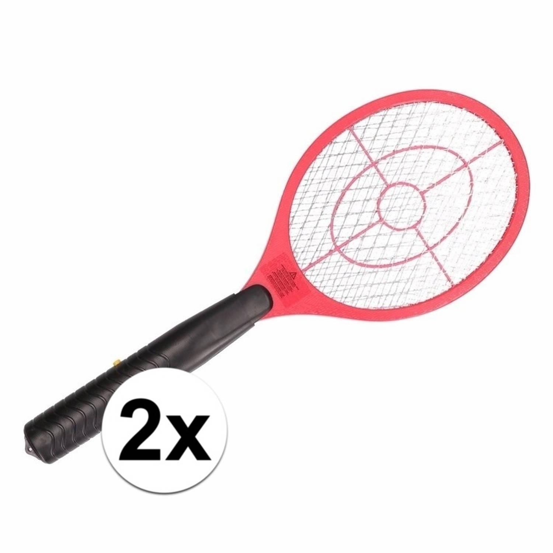 2 stuks Elektrische vliegenmeppers rood