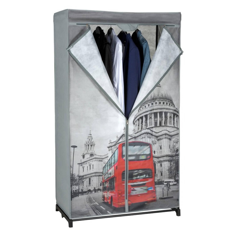 Mobiele opvouwbare kledingkast/garderobekast 156 cm London - Camping/zolder