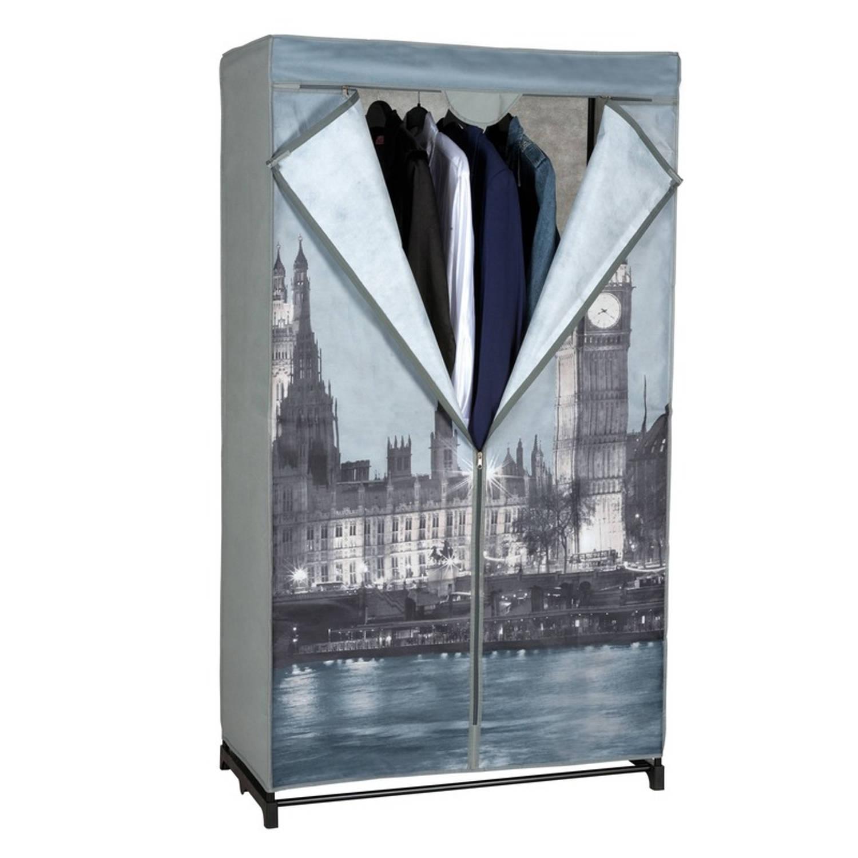 Mobiele opvouwbare kledingkast/garderobekast 156 cm Big Ben - Camping/zolder