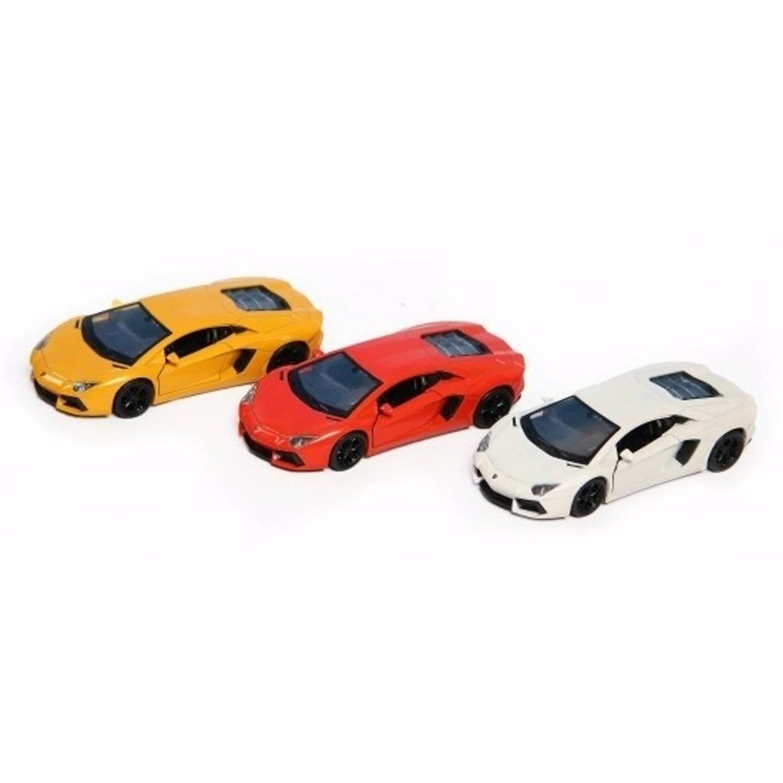 Speelgoed gele Lamborghini Aventador LP700-4 auto 12 cm