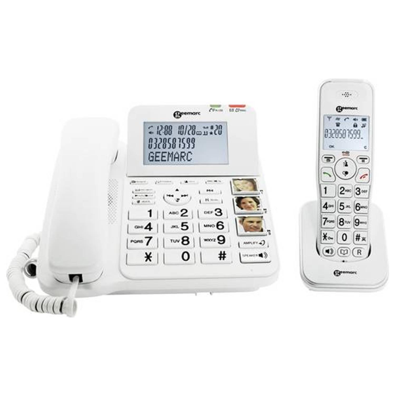 Senioren combi telefoon met antwoordapparaat - Geemarc DECT295-2