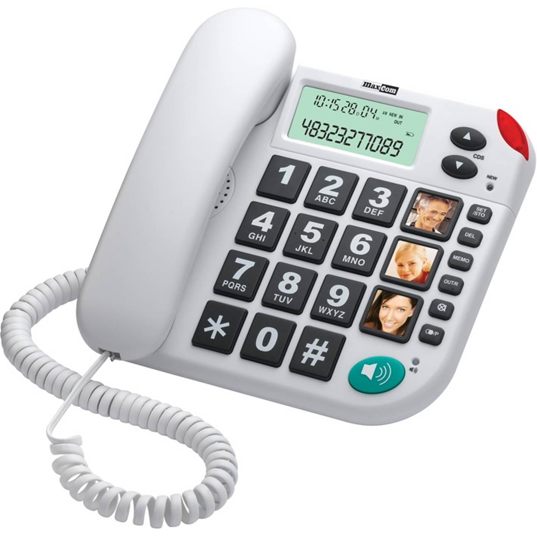 Stelcomfort MaxCom huistelefoon voor senioren - Wit