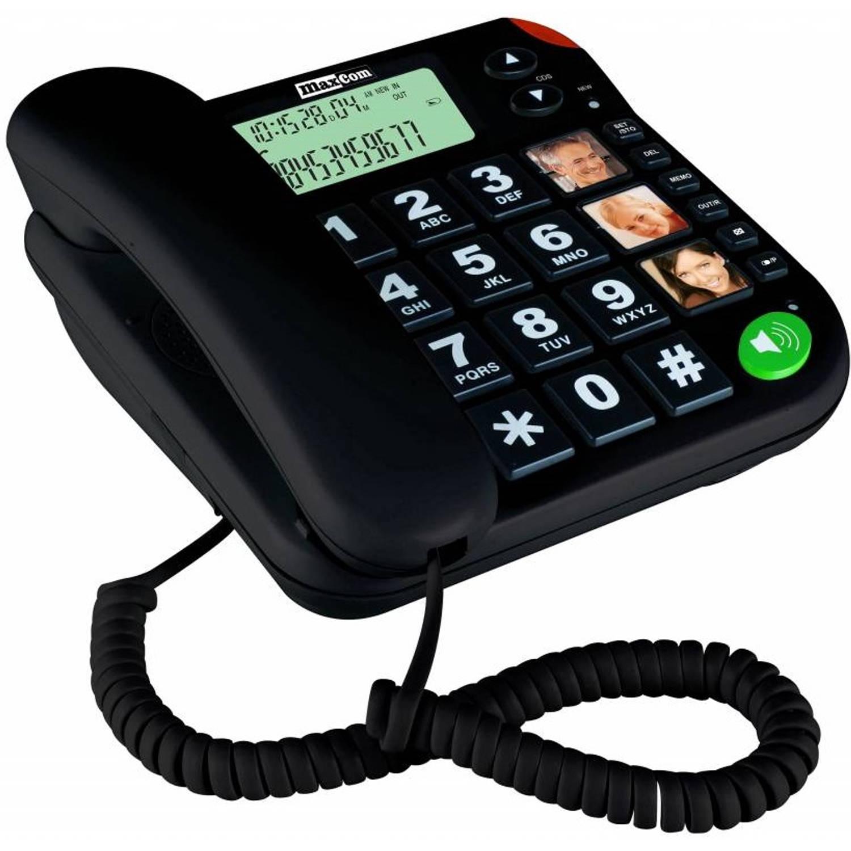 Stelcomfort MaxCom huistelefoon voor senioren - Zwart