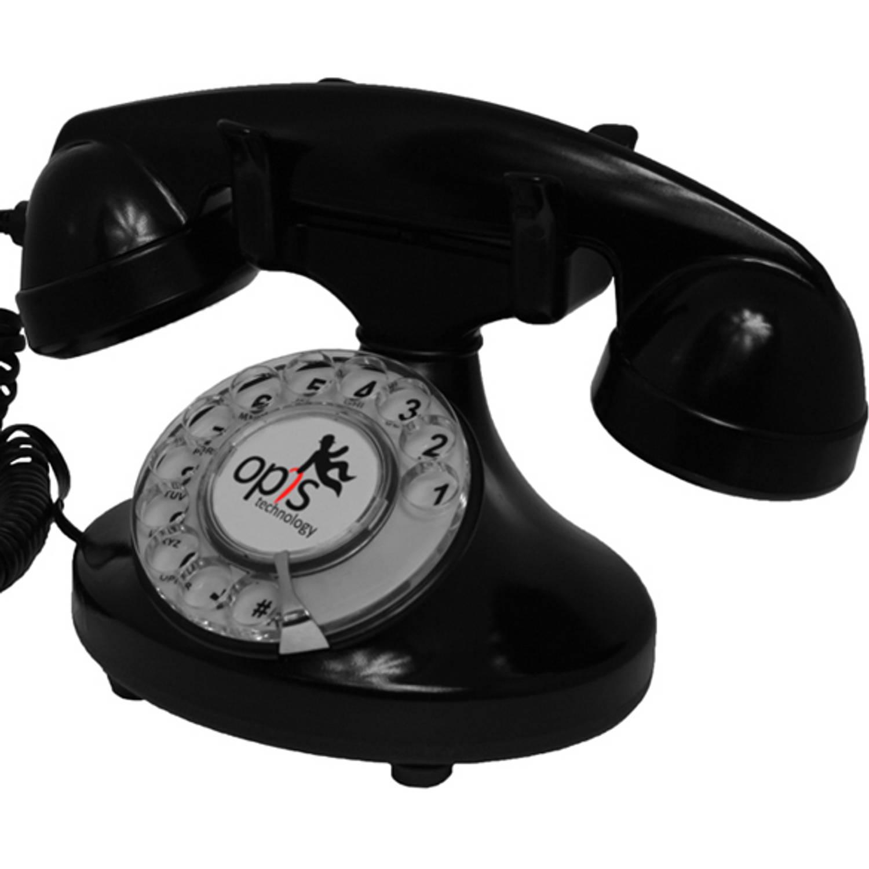 Opis FunkyFon huistelefoon met draaischijf - Zwart