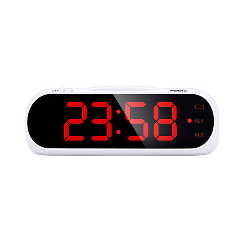 Wekker met optioneel trilalarm voor slechthorenden - Fysic FC-240