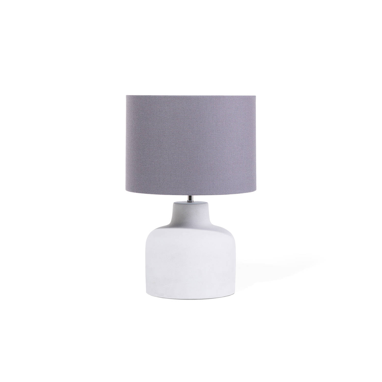 Beliani Bhima Tafellamp Grijs