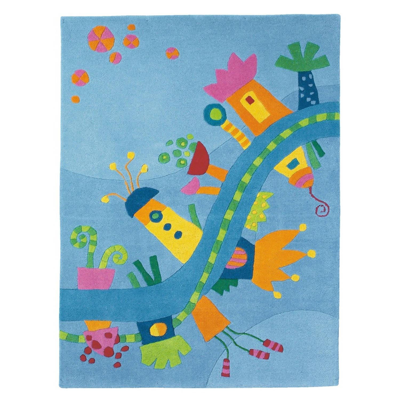 Haba vloerkleed droomland blauw 105 x 145 cm