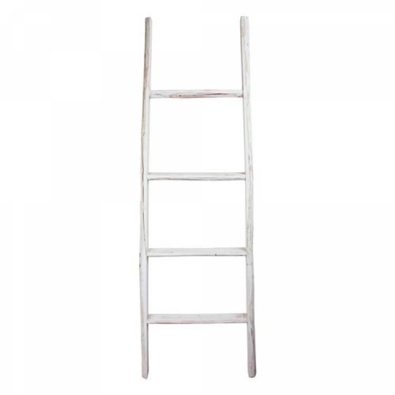 Decoratie Ladder Wit 50x6x150 Cm Blokker
