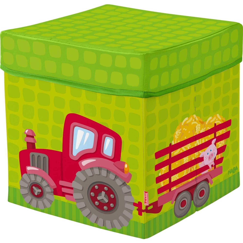 Haba opbergbox trekker groen 30 x 30 cm 27 liter