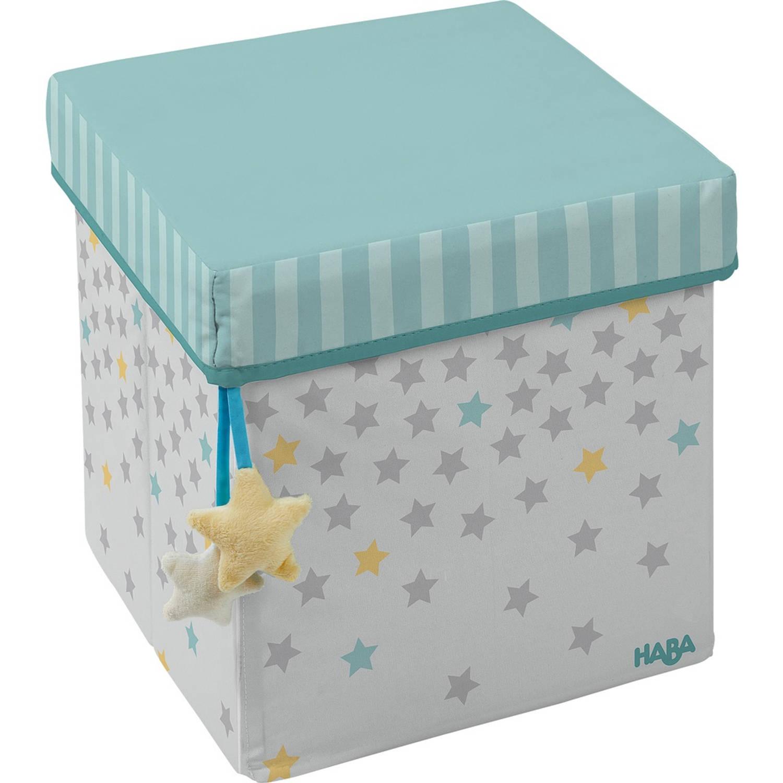 Haba opbergbox sterrenhemel blauw/grijs 30 x 30 cm 27 liter