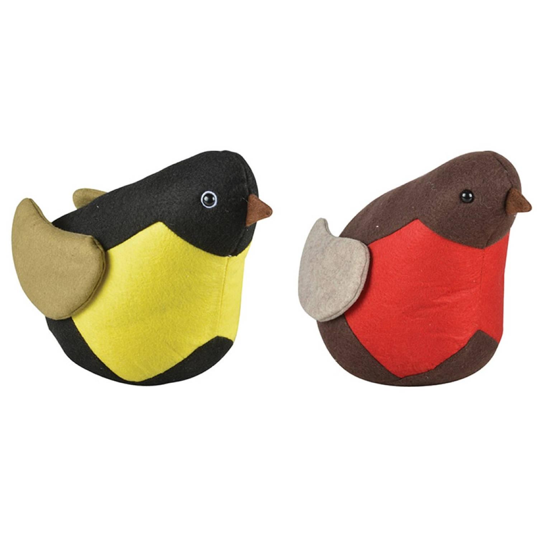 2 stuks! Esschert Design Deurstop vogel ass.