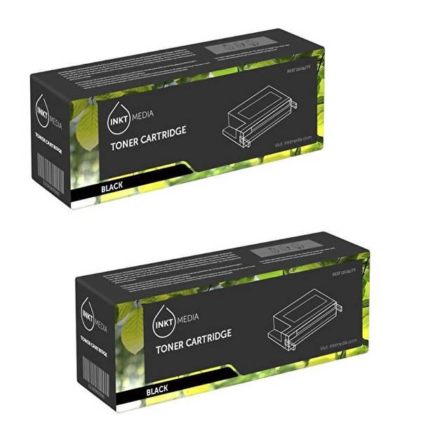 Inktmedia® - Toner cartridge - Alternatief voor de Hp 80X Hp CF280X toner zwart hoge capaciteit 2x