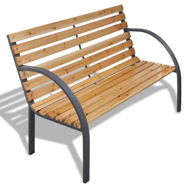 vidaXL Tuinbank 120 cm hout en ijzer