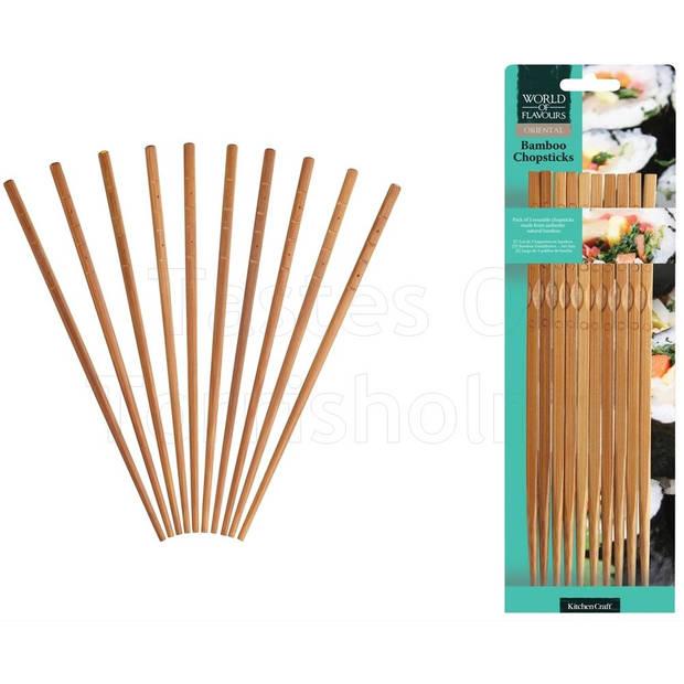 Eetstokjes - Bamboe - Set van 10 - KitchenCraft Oriental
