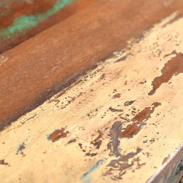 vidaXL Wandtafel met 3 lades gerecycled hout