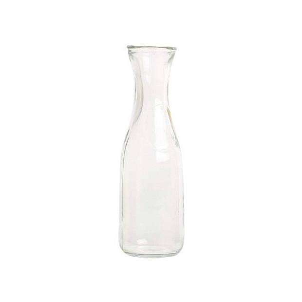2x Glazen karaf 1 liter