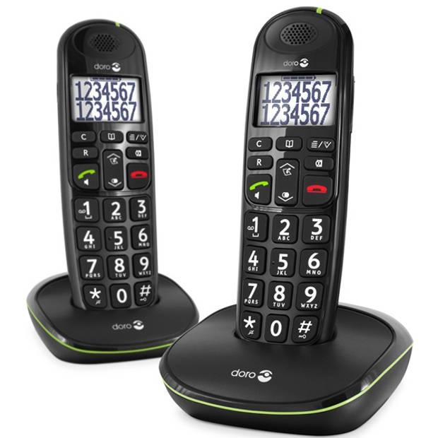 Doro Senioren DECT-telefoon PE-110 Duo - Zwart