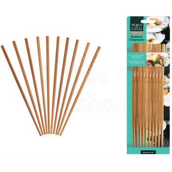 Korting Eetstokjes Bamboe Set Van 10 Kitchencraft Oriental