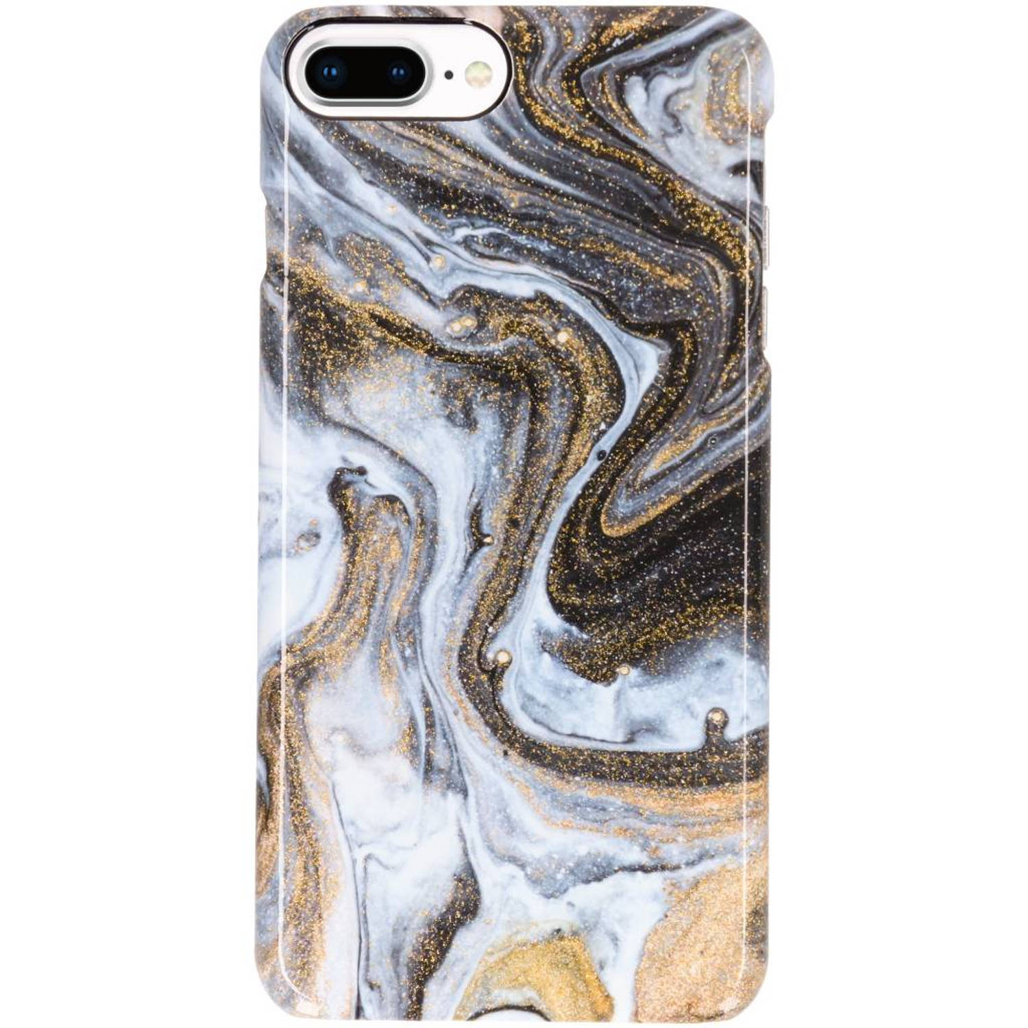 iPhone 8 Plus / 7 Plus / 6(s) Plus hoesje zwart - Lava Passion