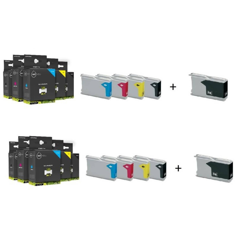 Inktmedia® - Inktcartridge - Alternatief voor Brother LC-970 en LC-1000 serie 4x zwart en 2x cyaan 2x magenta 2x geel