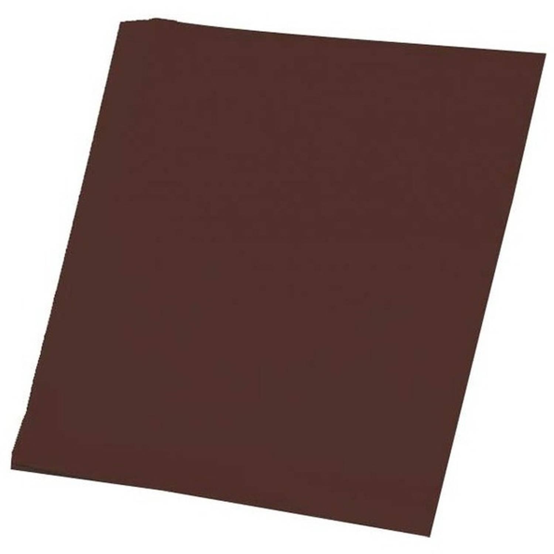 Afbeelding van 100 vellen bruin A4 hobby papier