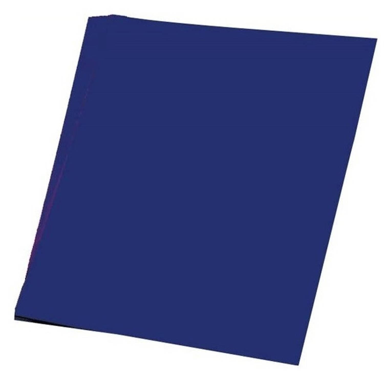 Afbeelding van 100 vellen donker blauw A4 hobby papier