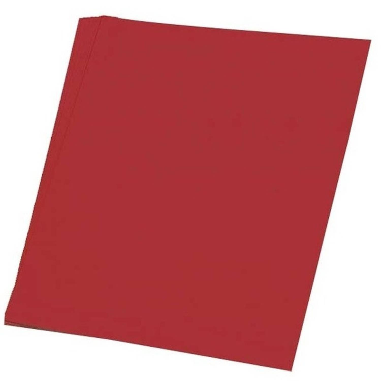 Afbeelding van 100 vellen rood A4 hobby papier