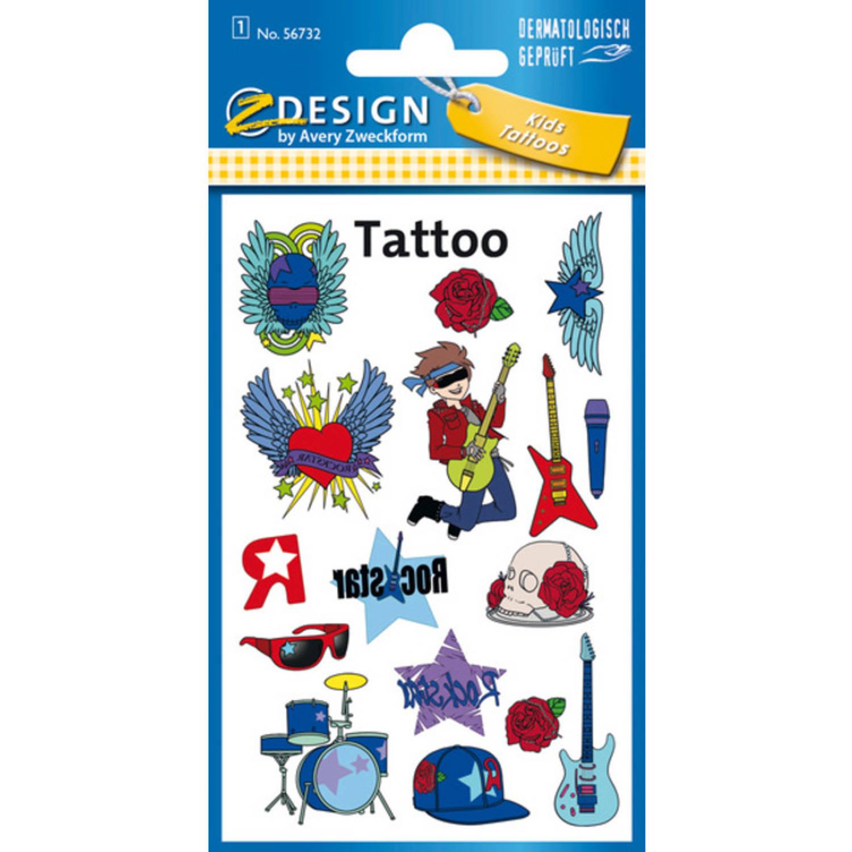 Korting Tattoo Etiket Z design Kids Pakje A 1 Vel Rockstar