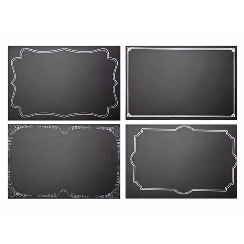 Kerst krijtbord placemats 4 stuks om zelf te decoreren