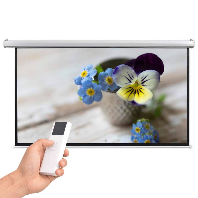 vidaXL Projectiescherm met afstandsbediening elektrisch 200x113 cm 16:9