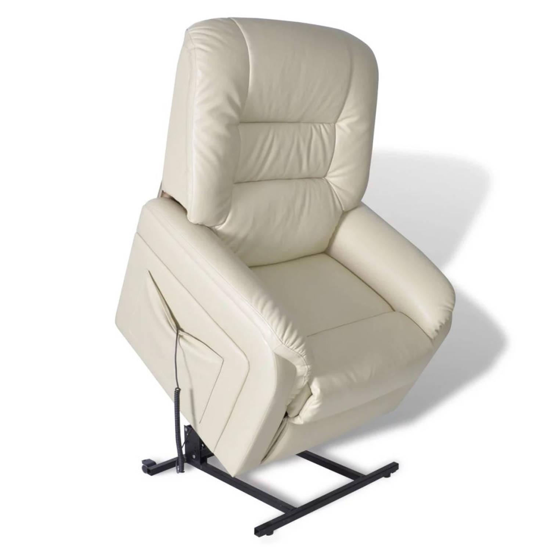 Elektrische Sta-op-stoel (wit)