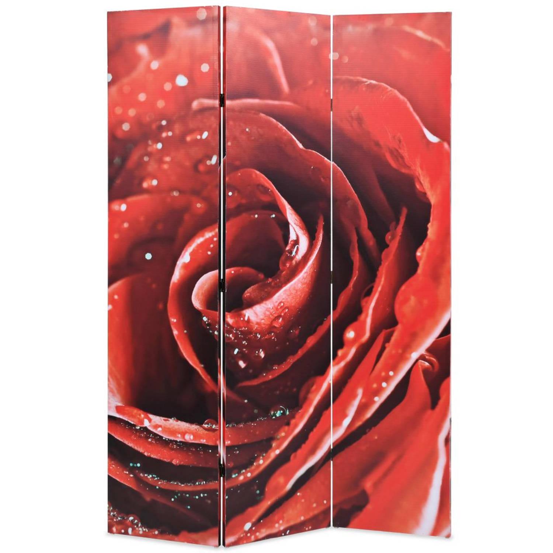 vidaXL Kamerverdeler inklapbaar roos 120x180 cm rood