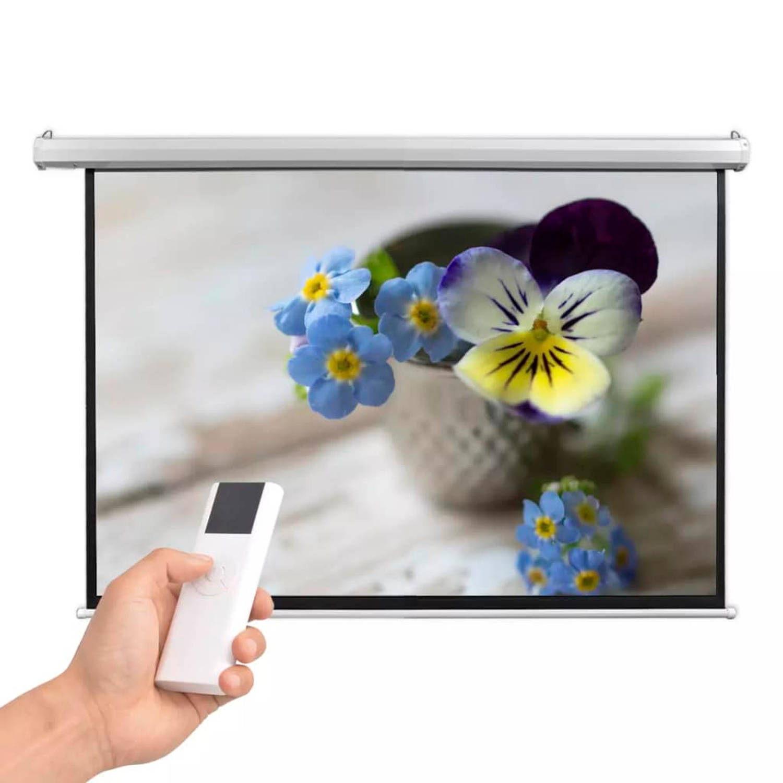 vidaXL Projectiescherm met afstandsbediening elektrisch 160x90 cm 16:9