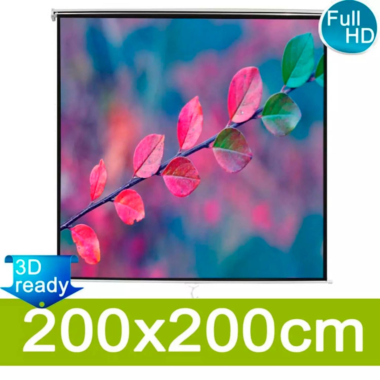 vidaXL Projectiescherm mat wit 200x200 cm
