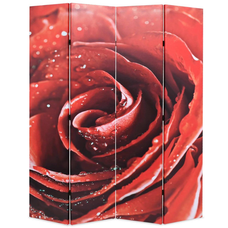 vidaXL Kamerverdeler inklapbaar roos 160x180 cm rood