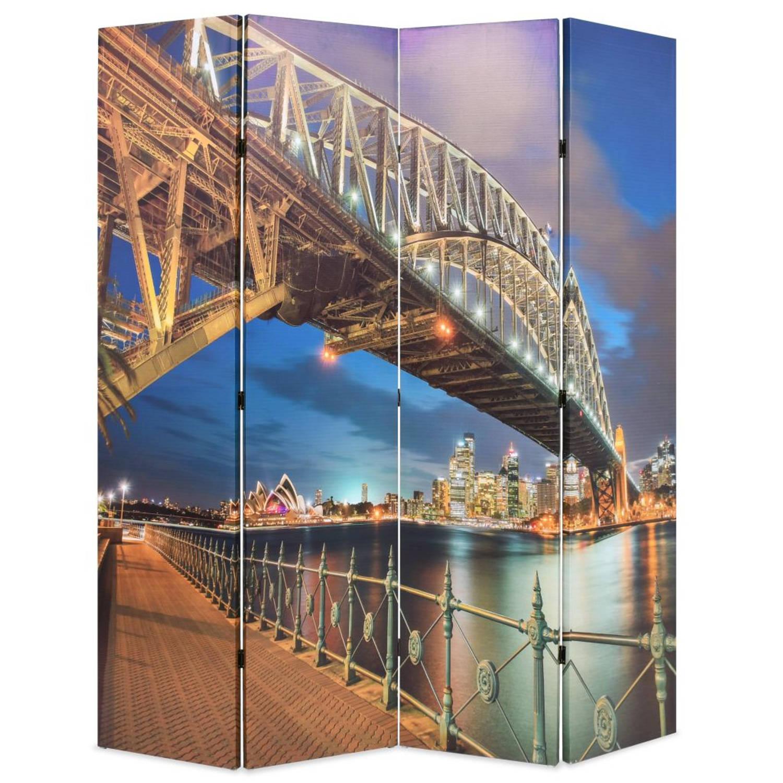vidaXL Kamerverdeler inklapbaar Sydney Harbour Bridge 160x180 cm