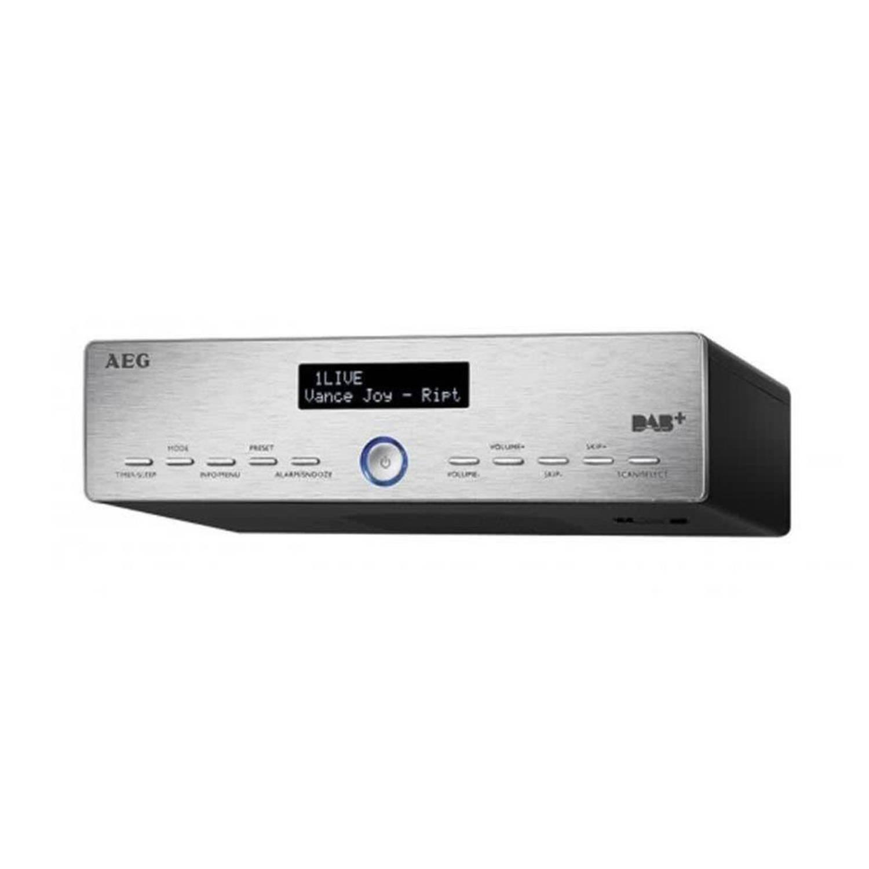 AEG Keukenradio met DAB+ KRC 4368 2,5 W zilver